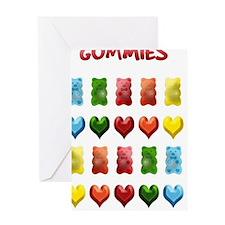 Gummy Bears, Jelly Hearts Greeting Card