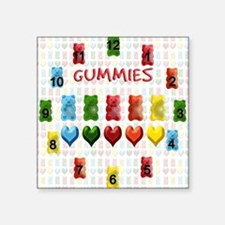 "Gummy Bears, Jelly Hearts Square Sticker 3"" x 3"""