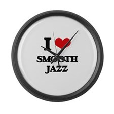 I Love SMOOTH JAZZ Large Wall Clock