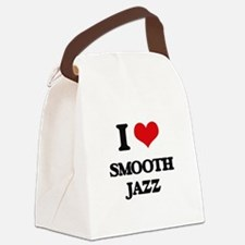 I Love SMOOTH JAZZ Canvas Lunch Bag