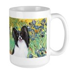Irises & Papillon Large Mug