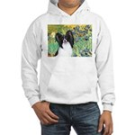 Irises & Papillon Hooded Sweatshirt