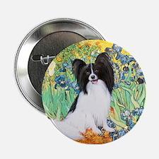"Irises & Papillon 2.25"" Button"