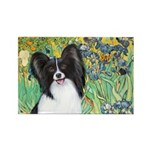 Irises & Papillon Rectangle Magnet (10 pack)