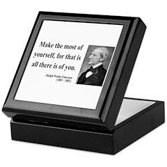 Ralph Waldo Emerson 19 Keepsake Box