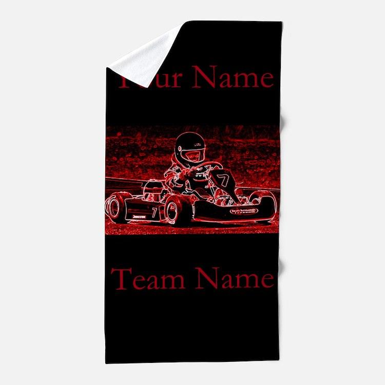 Kart Racing Beach Towel