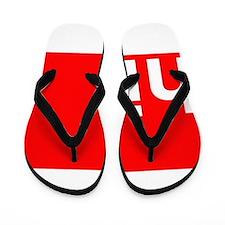 hi Typography Greeting Flip Flops