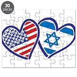 Israel american flag Puzzles