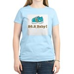 26.2 Marathon Runner Women's Light Blue T-Shirt