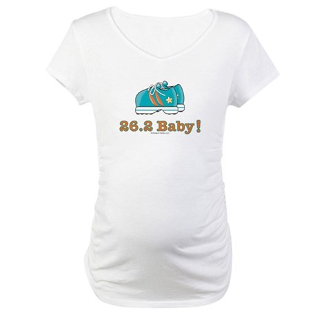 26.2 Marathon Runner Shoes Maternity T-Shirt
