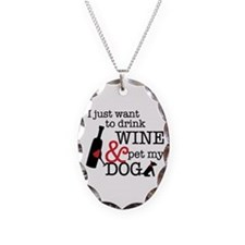 Wine And Dog Necklace