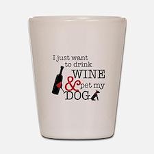 Wine and Dog Shot Glass