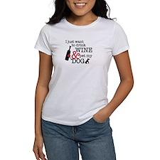 Wine and Dog Tee