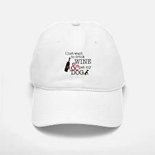 Wine and Dog Baseball Baseball Cap