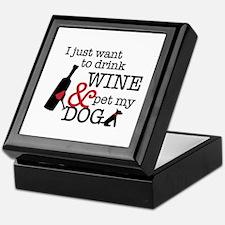 Wine and Dog Keepsake Box
