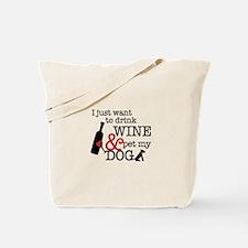 Wine and Dog Tote Bag
