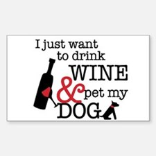 Wine and Dog Decal