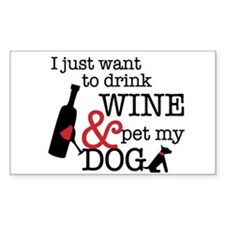 Wine and Dog Stickers