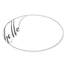 hello Hand Written Typography Calligraphic Decal