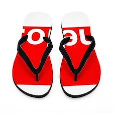 hello Typography Greeting Flip Flops