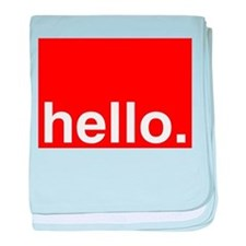 hello Typography Greeting baby blanket