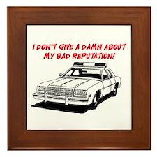 DON'T GIVE A DAMN Framed Tile