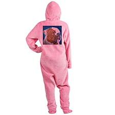 American Bulldog Footed Pajamas