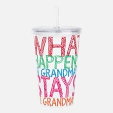 What Happens at Grandm Acrylic Double-wall Tumbler