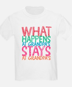 What Happens At Grandpa's T-Shirt