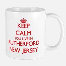 Keep calm you live in Rutherford New Jersey Mugs