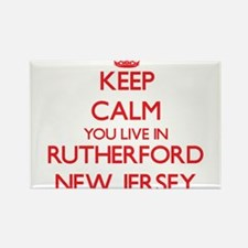 Keep calm you live in Rutherford New Jerse Magnets
