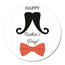 Happy Fathers Day Mustache Red Polka Dot Bow Tie R