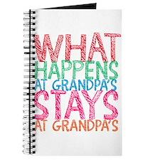 What Happens At Grandpa's Journal