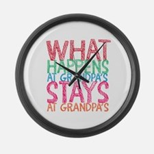 What Happens At Grandpa's Large Wall Clock