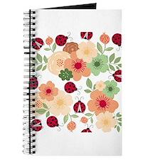 Mod Lady Bugs Flower Garden Journal