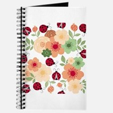 Mod Lady Bugs Flower Garden Journal