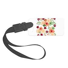 Mod Lady Bugs Flower Garden Luggage Tag