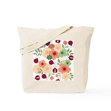 Mod Lady Bugs Flower Garden Tote Bag