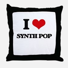 I Love SYNTH POP Throw Pillow