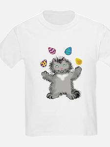 Grey Kitten Juggling Ea T-Shirt
