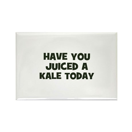 have you juiced a kale today Rectangle Magnet