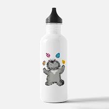 Grey Kitten Juggling E Water Bottle