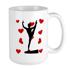Balance Beam Hearts Mugs