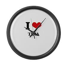 I Love TINA Large Wall Clock