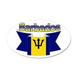 Barbados Oval Car Magnets