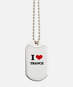 I Love TRANCE Dog Tags