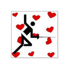 Fencing Hearts Sticker