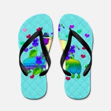 Chinese Year Of the Rainbow Sheep Flip Flops