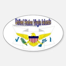 USVI flag ribbon Decal