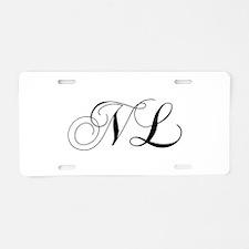 NL-cho black Aluminum License Plate